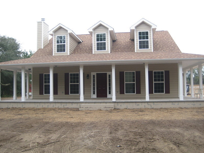 America 39 s home place front exterior for Custom home builders valdosta ga