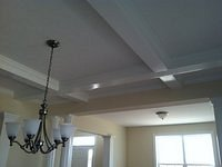Coffered ceiling finish