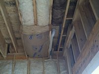 Insulation for garage water showing how