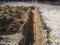Grading for foundation footings