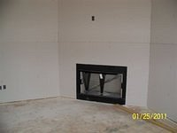 Installing fireplace