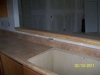 Marble counter top lavatory