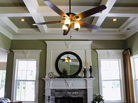 Custom Coffered Ceiling & Fan