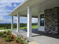 Side Porch with Rock Accents