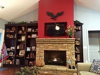 Wildwood fireplace with custom built-ins