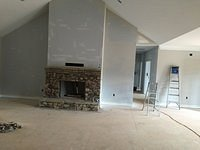 Sheetrock Stage and Fireplace