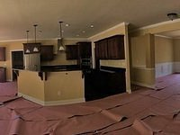 Panoramic of Living Area Near Completion