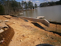 Retaining Wall by Lake