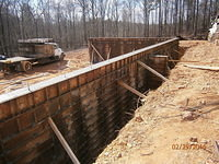 Walls poured prior to forms being removed