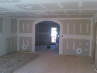 interior drywall arched opening