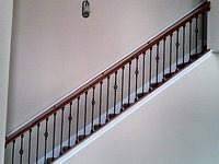 wrought iron railing staircase