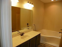 Master Bath with Garden Tub and Bronze Fixtures