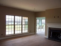 Sunroom and Marble Fireplace Surround